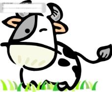 Q版中国传统12生肖丑牛