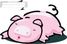 Q版中国传统12生肖亥猪