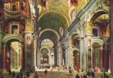 罗马圣彼得大教堂内景图片