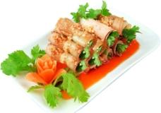 香菜白肉卷图片