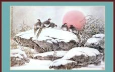 寒冬寄语中堂画图片