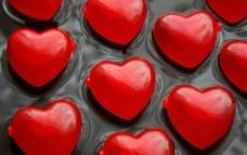 心型 心心 橡皮糖 玩具 底纹 红 灰黑 晶莹图片