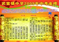 中学2009年中考金榜图片