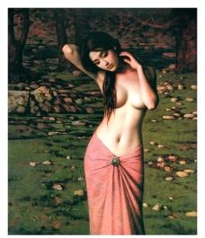油画 美女 美术图片