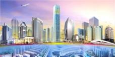 天津河东典型建筑群效果图图片