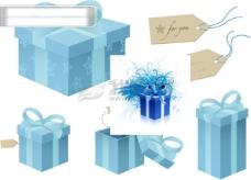 蓝色的礼盒