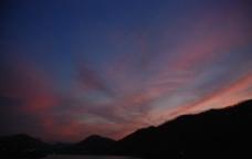 落日红霞图片
