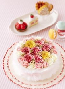 鲜花蛋糕图片