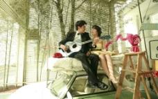 高清温馨浪漫情侣夫妻家居生活素材图片