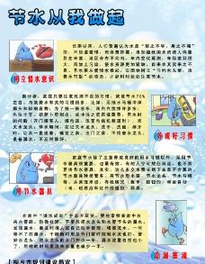 節約用水展板圖片