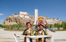 西藏 日喀则 江孜 江孜宗山01图片