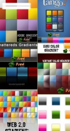 各种web 2 0色彩样式图片