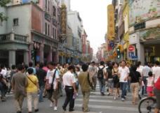 广州 上下九路 下九路 上九路 购物区 人潮图片