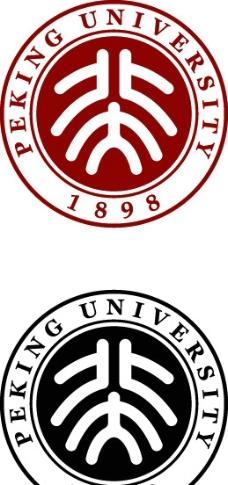 北京大学校徽矢量图图片