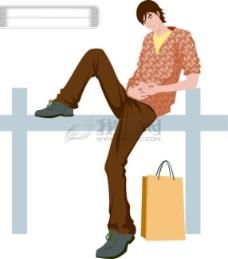男人 男性 时尚 商务 男装 矢量