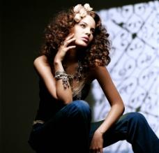 女性服装模特图片