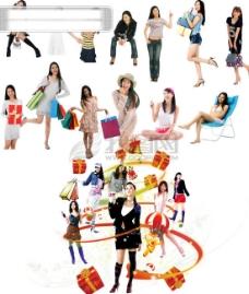 购物女性PSD