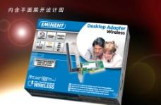 外贸PCI无线网卡包装图片