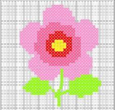 花朵十字绣矢量图图片