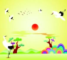 鹤(移动门)图片