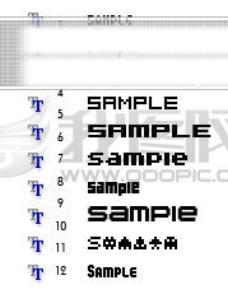 12种LOGO设计专业字体