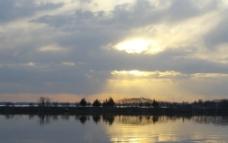 湖面风光图片