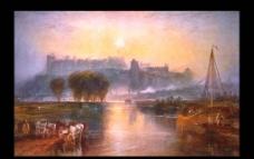 世界名画 油画 名画 画 树 河 建筑图片