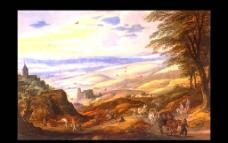 世界名画 油画 名画 画 树图片