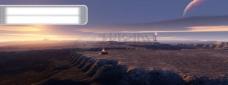 南极洲夕阳风景