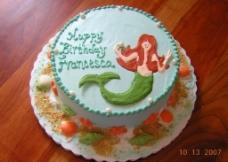 美人鱼 蛋糕 生日蛋糕 贝壳 神话 传说 奶油 忌廉图片