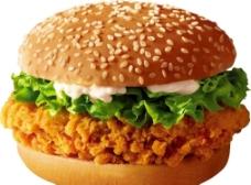 鸡腿汉堡图片