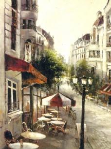 街景 油画 128