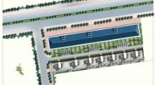 住宅小区总图渲染(模拟手绘效果)图片