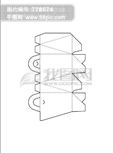 包装设计 白盒 刀模图 线框图
