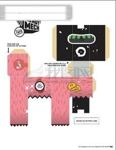 彩盒 包装设计 白盒 刀模图