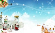 圣诞背景小屋图片