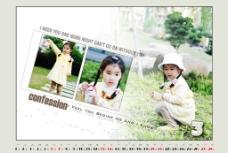甜美小公主的2010年台历3月图片