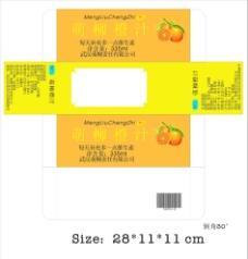 橙汁包装盒图片