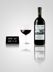华丽红酒图片