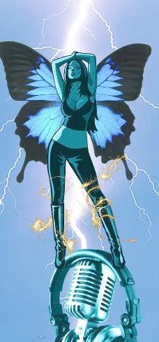 电光中的蓝色精灵图片