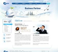 科技商业类网页模板图片