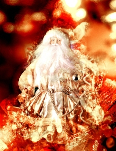 白色圣诞老人图片