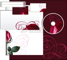 光碟玫瑰花