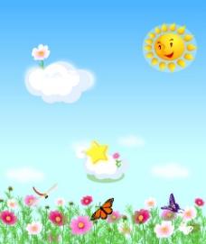 阳光下的花图片