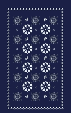 蓝印花布之一图片