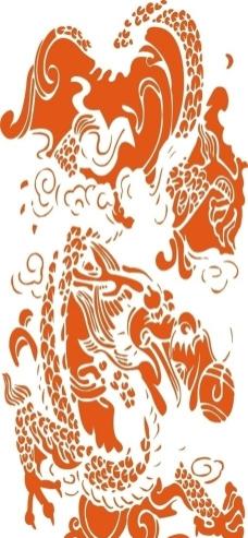 龙(矢量)图片