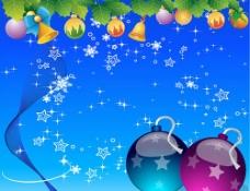 蓝色圣诞节装饰图片