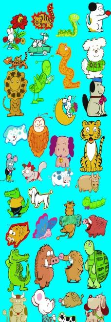 卡通动物风景组合图_风景520