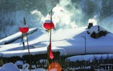 雪景农庄图片