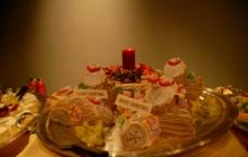 圣诞树根蛋糕图片